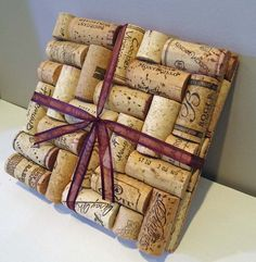 wine cork trivets-Finally threw my collection away because I didn't know what to do with them.....