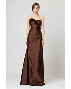 Spectacular See the Floor Length Brown Bridesmaid Dress in our gallery