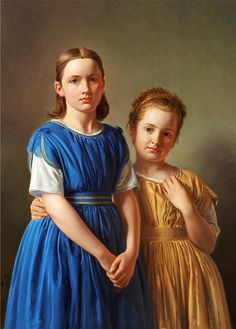 Constantin Hansen (Danish, 1804-1880) - Double portrait of the sisters Bertha…