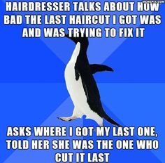 She didn't say a word until we were done..