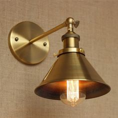 Wrount Iron Brass Vintage Wall Lamp Light For Cafe Room Edison Wall Sconce Arandela In America Loft -  Item Type: Wall Lamps  Certification: UL,CQC,CE,FCC,EMC,CCC  Power Source: AC  Usage: Holiday  Body Material: Iron  Base Type: E27  Features: loft style  Warranty: 3 year  Switch Type: Knob switch  Is Bulbs Included: No  Installation Type: Wall Mounted  Shade Type: Iron  Shade Direction: Down  Voltage: 90-260V  Application: Foyer  Technics: Plated  Style: Vintage  Lighting Area: 5-10square…