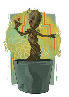Guardians of the Galaxy - Dancing Baby Groot by Matt Haworth
