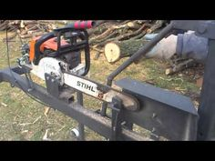 Can Cervera - Chainsaw support now with safety bar, firewood processing. - YouTube