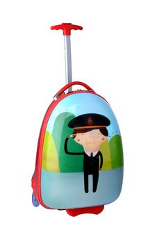 Little Travellers pilot trolley bag Young flyers can enjoy wheeling their toys, books and travel essentials through the airport in this trolley bag. It features a cartoon of one of our pilots on the front from the Little Travellers collection.