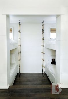 such a cool idea for ladders at bunk beds. I would have loved this as a child