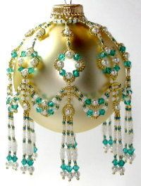 Free Beaded Christmas Ornament Covers | Free Beaded Victorian Ornaments Patterns | ... indicates number of 5 ...