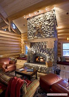 Log Home Interior Photo GallerySummit Log and Timber Homes