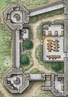 Castle Daggerdale. (Originally this was the Iron Keep from Reavers of Harkenwold. I've adapted the adventure and the location for my campaign.)