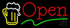 Beer Open Neon Sign 13 Tall x 32 Wide x 3 Deep, is 100% Handcrafted with Real Glass Tube Neon Sign. !!! Made in USA !!!  Colors on the sign are White, Green, Red and Yellow. Beer Open Neon Sign is high impact, eye catching, real glass tube neon sign. This characteristic glow can attract customers like nothing else, virtually burning your identity into the minds of potential and future customers. Beer Open Neon Sign can be left on 24 hours a day, seven days a week, 365 days a year...