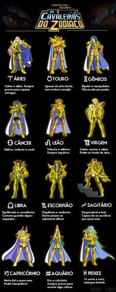 Horóscopo segundo Cavaleiros do Zodíaco | Amigos do Fórum