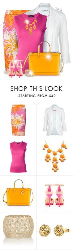 """A Patterned Pencil!"" by pinkroseten ❤ liked on Polyvore featuring Anna's Dress Affair, Miss Selfridge, Dolce&Gabbana, Henri Bendel, Charlotte Olympia, Isharya and IBB"