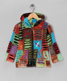 Look what I found on #zulily! Cool Rainbow Zip-Up Hoodie - Toddler & Girls #zulilyfinds