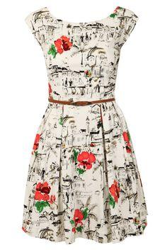 Louche Julita-Riviera Printed Dress - Evening Dresses - Dresses - Clothing - Womenswear