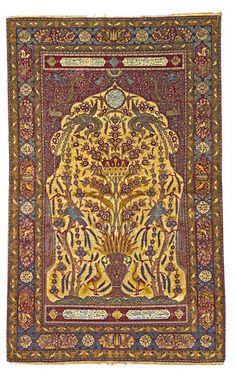 Persian Keshan Souf rug, late 19th century