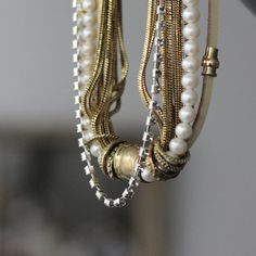 Statement Necklace with White Freshwater Pearls by charlottehosten, $264.00