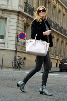 Birkin pictured on a glamorous-looking women Glitter Boots, The Blonde  Salad, Love 41f32fbe3e