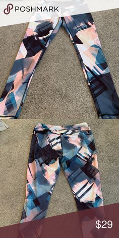 a27d8434c7189 Lucy Yoga Pants Leggings Fun Print, EUC Size L Large Lucy yoga tights like  new