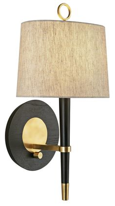 Jonathan Adler Ventana Brass Plug-In Wall Lamp - This hotel Style Lamp is perfect for bedrooms