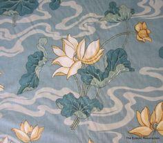 Vintage Asian Décor Fabric-Cohama Riverdale Home Décor Fabric-Lotus Blossom-6.8 yards