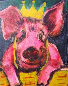 Kunstkabinet Herens: The birthday suit pig ( 2015 - sold )