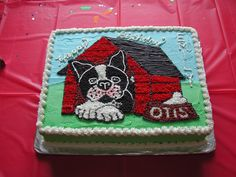 Special Boston Terrier named Otis appeared on this cake. Great dog!
