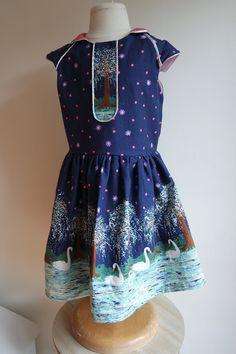 Ileana dress - Compagnie m - Michael Miller - Swan Lake - ZowieZo Handmade