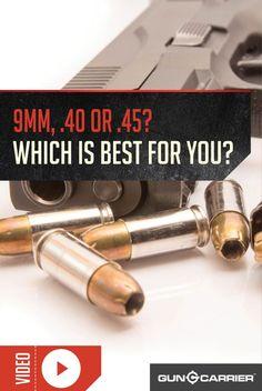 9mm vs .40 vs .45 | Which is Better for Self Defense? by Gun Carrier at http://guncarrier.com/9mm-vs-40-vs-45/