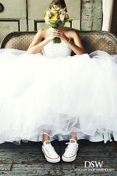 """Résultat de recherche d'images pour """"wedding dress with converse sneakers"""""""