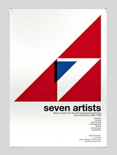 7artists poster by david barath