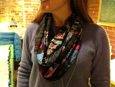 Learn how to sew an infinity scarf made from cozy jersey knit fabric that will drape nicely when arranged around your neck.