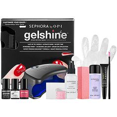 We love how gel nails put up to two weeks of chip-free color at our fingertips. So we patented a revolutionary at-home kit with a safe LED light that cures polish in 30 seconds. High tech. High shine. High five. #Sephora #HotNow