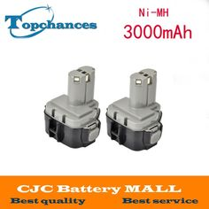 58.39$  Watch more here - http://aik8o.worlditems.win/all/product.php?id=32231491609 - 2pcs 12V 12 VOLT 3000mAh Ni-MH Battery for MAKITA 1234 1235F 193138-9 192698-A