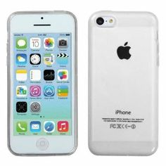 Amazon.com: 5C Phone Cases With Screen Protector - iPhone 5C Soft Skin TPU Case For The New iPhone 5C - Clear Soft Jelly Protector - Retial ...
