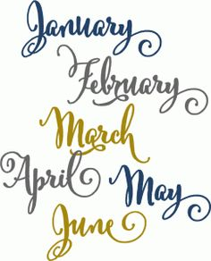 Silhouette Design Store - View Design #71500: flourish months january-june