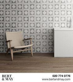 Our handmade encaustic tiles come in a range of patterns and colourways. Bert And May Tiles, Tiles For Sale, Encaustic Tile, Handmade Tiles, Ground Floor, Cement, Accent Chairs, Indoor, Colours