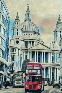 London Painting at Gouache London Illustration, Personal Investigation, Interior Painting, Gcse Art, London Art, Drawing Tutorials, Art Portfolio, Painting & Drawing, Taj Mahal