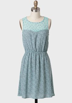 Nice To Meet You Printed Dress