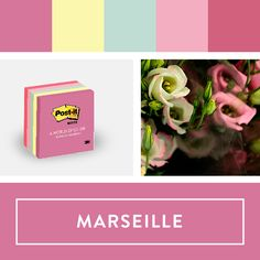 Explore Post-it World of Color Marseille Collection. #postitcolorsweeps  @postitproducts