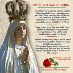 Our Lady of the Rosary at Fatima - what we are to do Praying The Rosary, Holy Rosary, Catholic Religion, Catholic Saints, Roman Catholic, Catholic Theology, Blessed Mother Mary, Blessed Virgin Mary, Jesus Jose Y Maria
