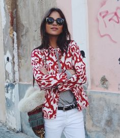 PATTERNS // cute look with a boho jacket #boho #jacket #cute #look #patterns