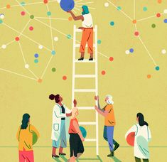 Women in STEM editorial illustration