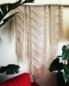 A closer look at this one now that we have some daylight over here. It's set on the largest piece of driftwood I've used to date (just over 7-feet wide). #macrame #modernmacrame #wallart #knots #Oakland #ca #sf #sfbayarea #bohemian #boho #decor #design #driftwood #pnw #pdx #jungalowstyle #mcm #beachvibes