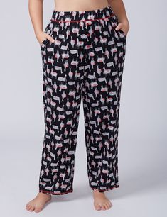 Alpaca Knit Sleep Pant with Buttons - Long
