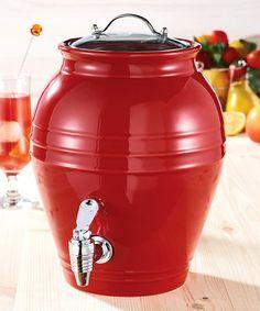 Loving this Cherry Drop Honey Pot 203-Oz. Beverage Dispenser on #zulily! #zulilyfinds