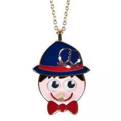 Mr Honest Goggly Eyed Necklace inspired by Pinocchio, it's cool to be HONEST - my eyes move and my nose pokes!