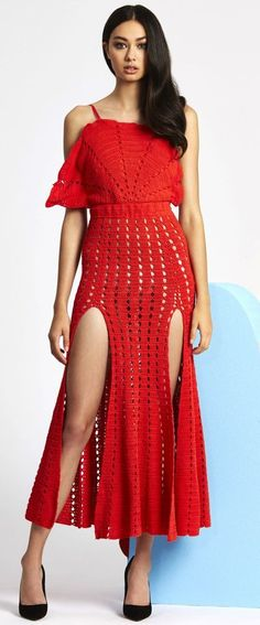 Alice McCall - Crochet Dress Red