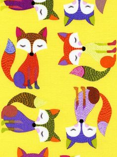 those trendy foxes! >> print & pattern: FABRICS – new in at fabric rehab