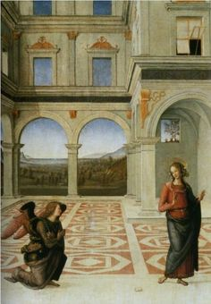 Annunciation by Pietro Perugino 1497