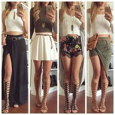 47 trendy ideas for moda verano casual outfits sandals Cute Skirt Outfits, Cute Skirts, Cute Summer Outfits, Cute Casual Outfits, Spring Outfits, Skater Skirt Outfit, Dress Outfits, Cute Fashion, Look Fashion