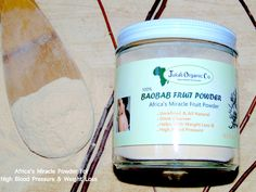 """Baobab Fruit Powder """"Africa's Miracle Tree For High Blood Pressure & Weight Loss"""""""